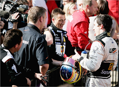 The first win - for Esteban with Ultimate, for Danny King in circuit racing. A special moment...
